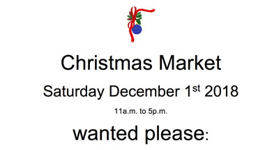 Christmas Market Items Wanted
